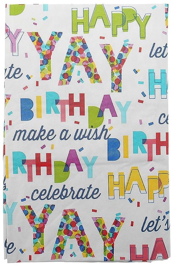 Feliz cumpleaños Celebrar franela atrás mantel de vinilo por ...