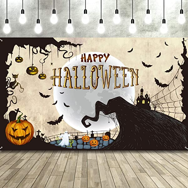 Halloween Family Party Halloween Photo Props Spooky Halloween  C-T04-TP LIN1 AA2 Family Halloween Party Backdrop Kid/'s Halloween Party