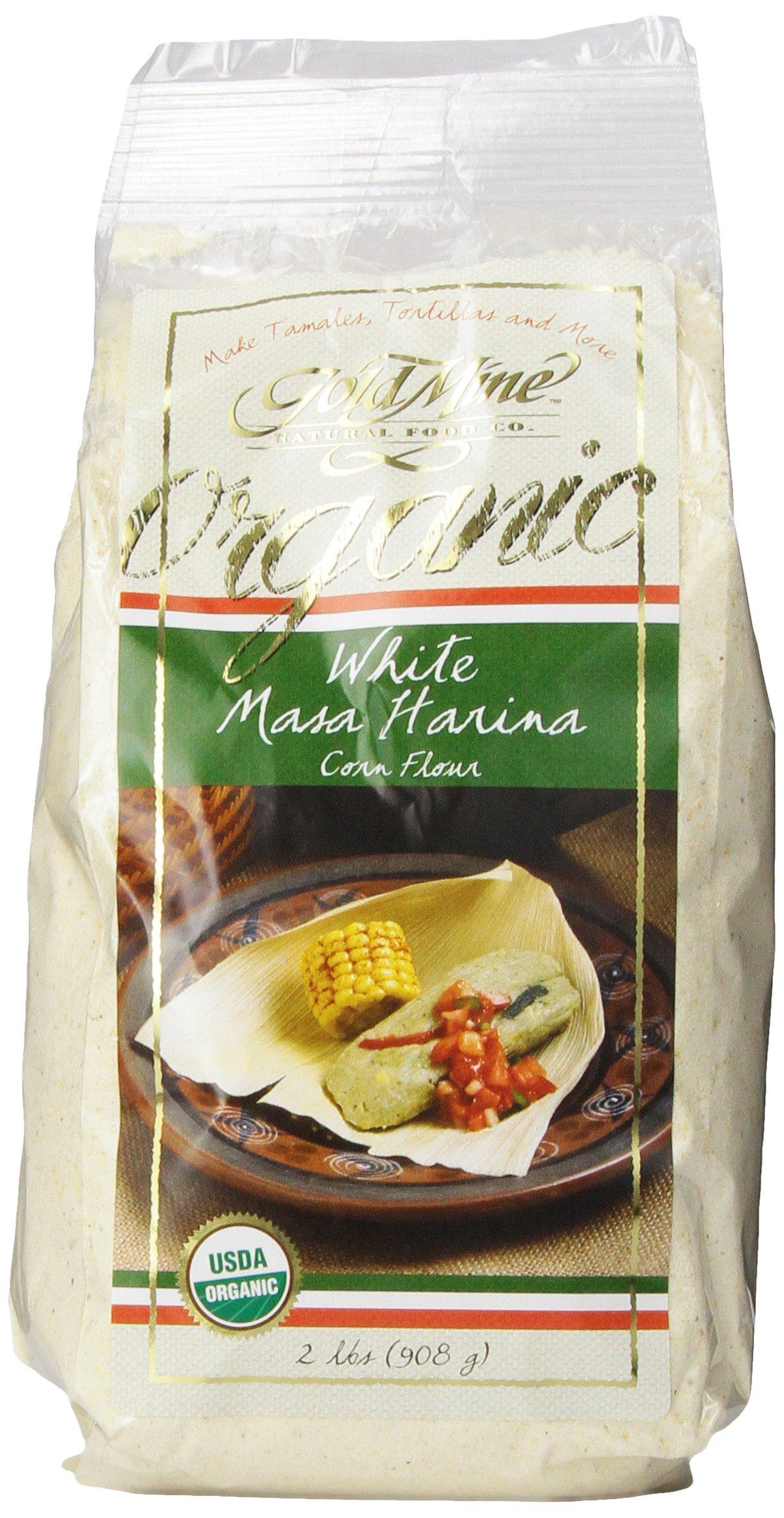 Gold Mine Organic Masa Harina Corn Flour, White, 2 Pound