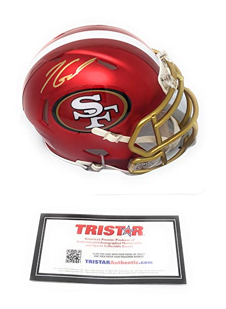 Jimmy Garoppolo San Fransisco 49ers Signed Autograph BLAZE Speed Mini Helmet  Tristar Authentic Certified 2d4c8f887