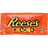 REESE'S PIECES Candy, Peanut Butter Candy in a Crunchy Shell, 1.53 Ounce Bag (Pack of 18) (Halloween Candy)