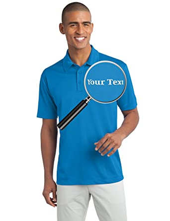 4996c32c Amazon.com: Custom Embroidered Shirts for Men - Personalized Embroidery  Polyester Polos: Clothing