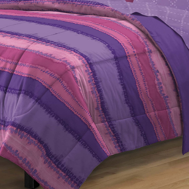 Multi-Colored Twin//Twin X-Large My Room Tie Dye Ultra Soft Microfiber Comforter Sheet Set