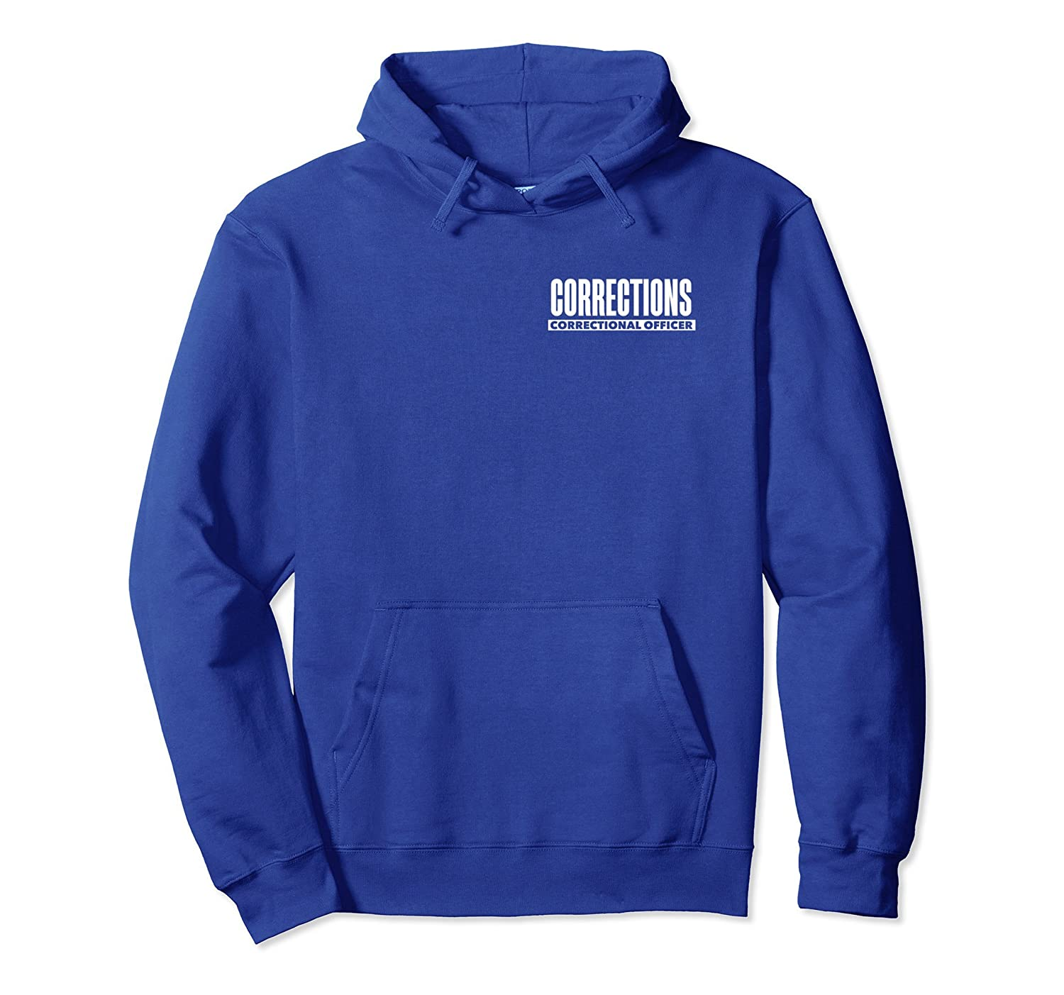 Correctional Prison Officer Thin Silver Line Flag Hoodie-TH
