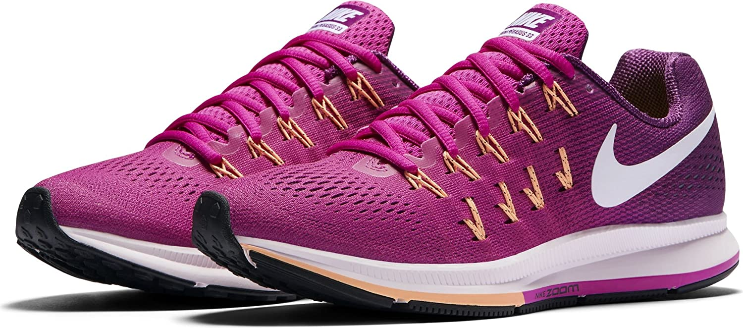 NIKE Women's Air Zoom Pegasus 33 B01CIYU9O2 9.5 B(M) US|Fire Pink/White/Bright Grape