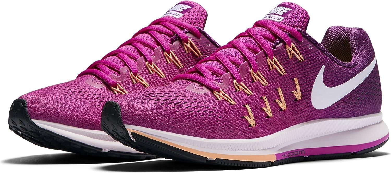 separation shoes 38790 cf67a Nike Women s Air Zoom Pegasus 33 Fire Pink White Bright Grape Running Shoe  6  Amazon.in  Shoes   Handbags