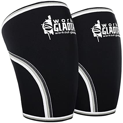 2f8f12a2ff Workout Gladiator Knee Compression Sleeve - 7mm Neoprene competition Level Knee  Brace - Maximum Support for Weightlifting, Powerlifting & CrossFit for ...