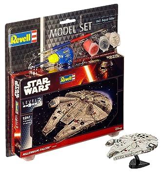 Revell- Set-Maqueta de Star Wars Millennium Falcon, Escala 1 ...