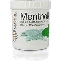 LoWell® ❤ - 100g Mentholkristalle in praktischer/wiederverschließbarer Dose - Premium-Qualität Sauna Kristalle Menthol