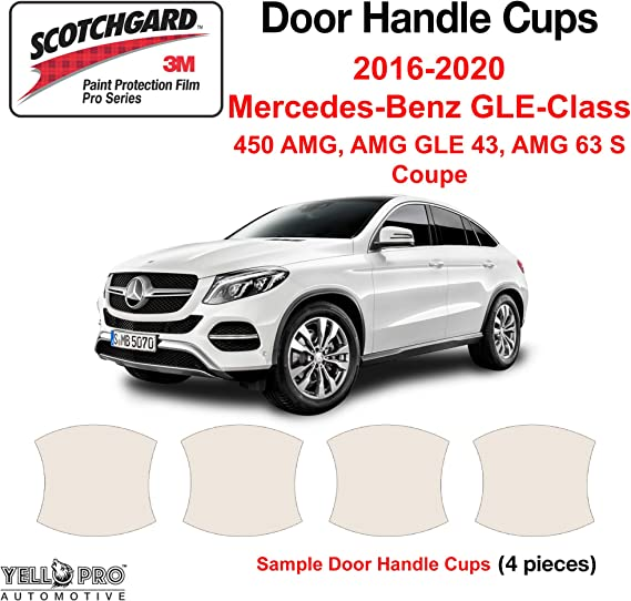for 2016 2017 2018 Mercedes Benz GLC SUV GLC Coupe GLC300 Custom Fit Automotive Self Healing Door Handle Door Cup Clear Paint Protection Film Set of 4