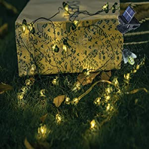 ANGMLN Solar Firefly Lights, 30 LED Solar Fireflies Lightning Bugs Fairy String Lights Outdoor 19.6FT Solar Powered String Lights Waterproof for Garden Patio Home Wedding Party Spring Decoration
