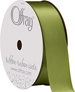 """product image for Berwick Offray 475874 7/8"""" Wide Single Face Satin Ribbon, Lemon Grass Green, 6 Yds"""