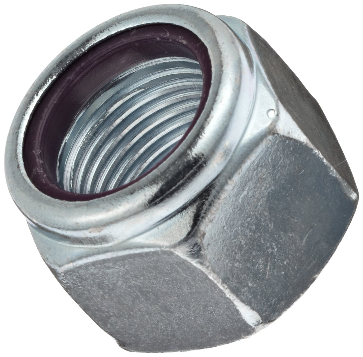 Self-Locking Nylon Insert Steel Hex Nut 5//8-18 Threads Right Hand Threads Grade 5 1.051 Width Across Flats Zinc Plated Finish Pack of 25