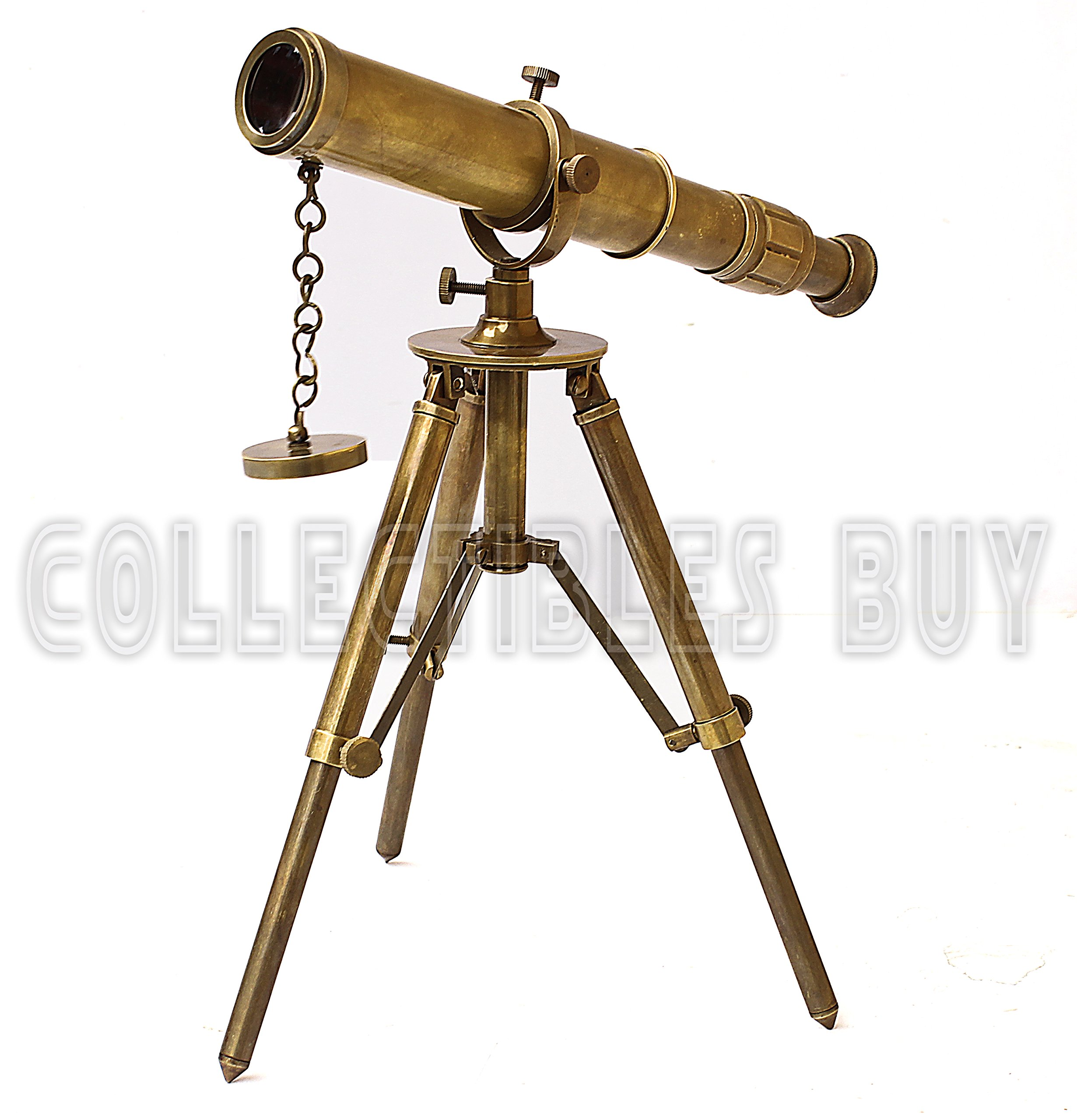 Collectibles Buy Vintage Table Decorative Brass Telescope with Tripod Maritime Ship Instrument Marine Gifts Item