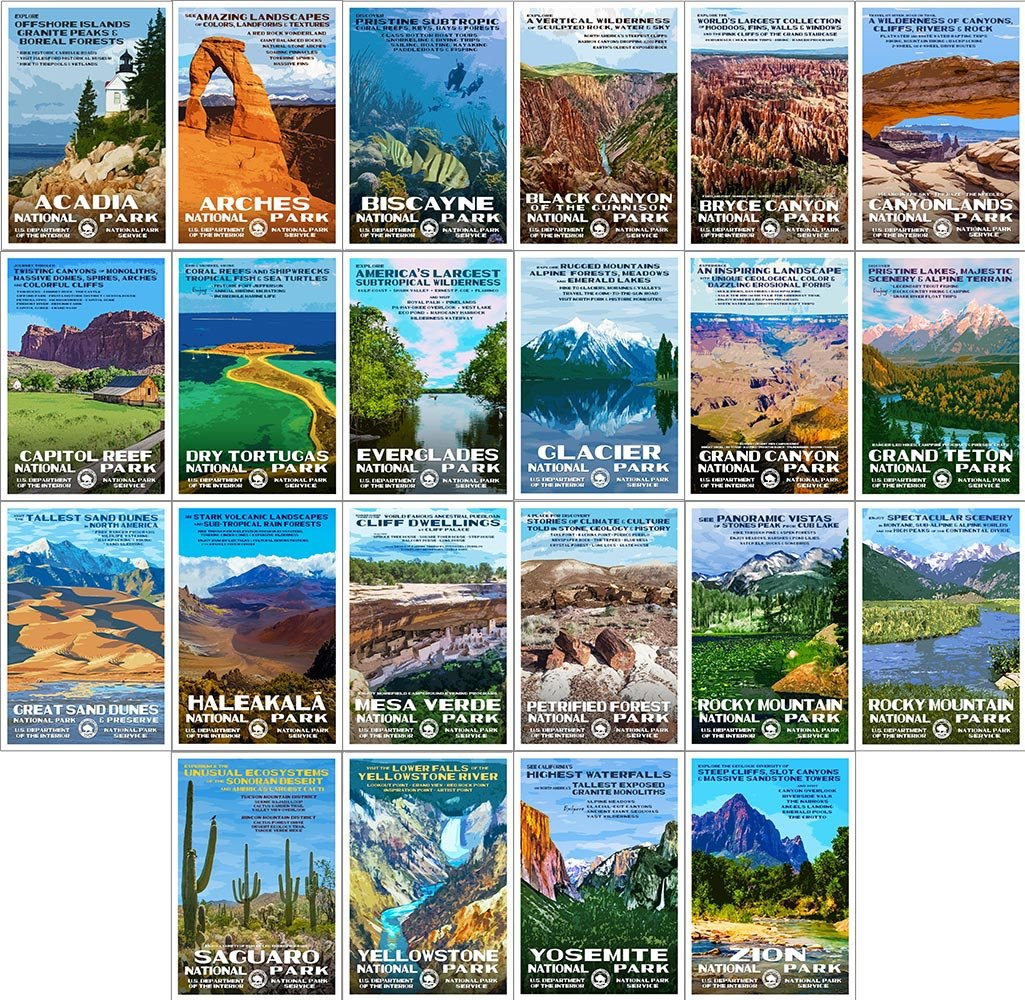 Robert B. Decker National Park Postcards (Series A)