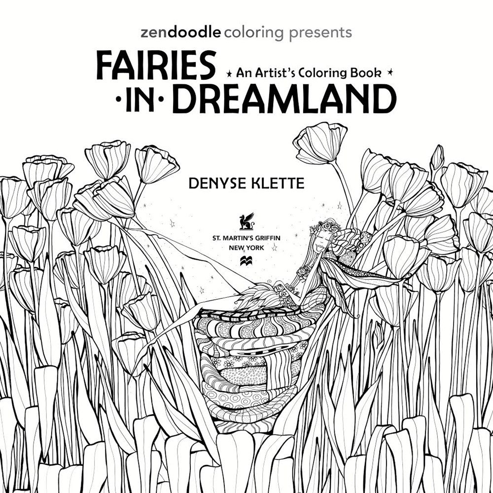 Amazon Com Zendoodle Coloring Presents Fairies In Dreamland An