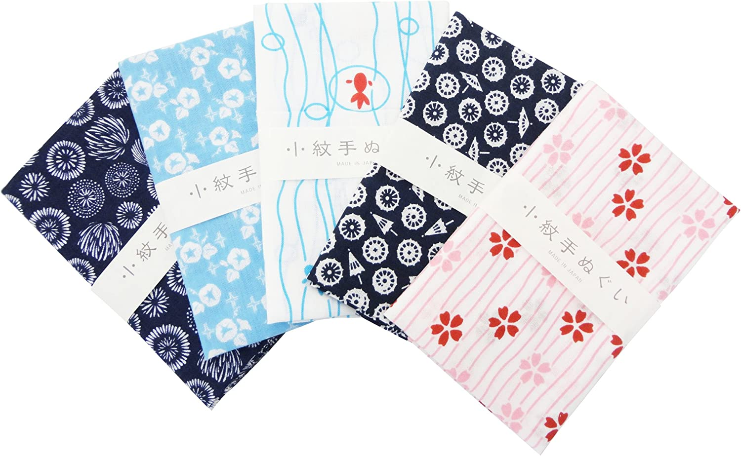 MADE IN JAPAN Japanese traditional towel TENUGUI  COTTON NEW 3 SET 10