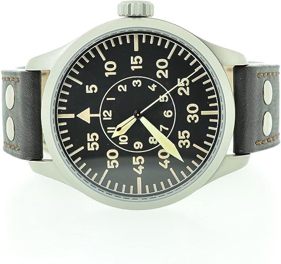 Aristo XXL Reloj de Aviador Pilot para Hombre ETA 2801 2