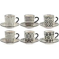 Juego de Seis Tazas de café STW Decoración