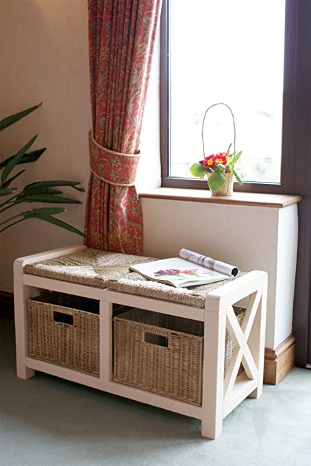 Wondrous The Somerset Hallway 2 Seater Wicker Drawer Storage Bench Seat Wooden Painted Cream Finish Free Delivery Gamerscity Chair Design For Home Gamerscityorg