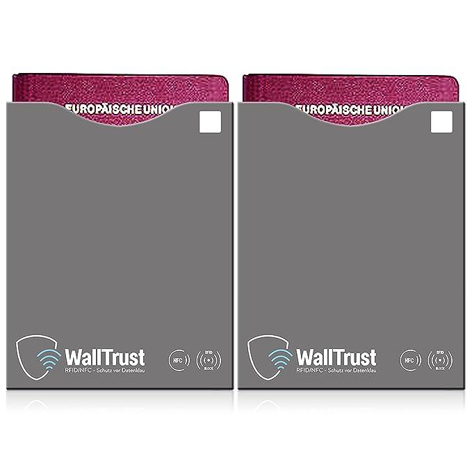 2 opinioni per WallTrust® RFID NFC Set di copertine bloccanti | Blocco manicotto per passaporto