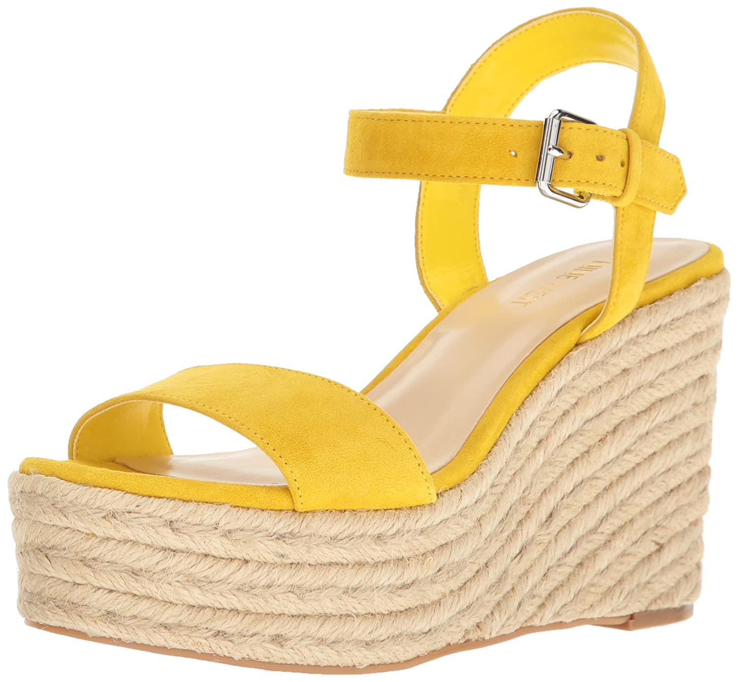 Nine West Women's Doitright Suede Wedge Sandal B01MXXQ943 6 B(M) US|Yellow