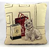 """Scottie Dog Vintage Tapestry Cushion Covers 18"""" x 18"""""""
