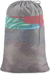 Whitmor Dura-Clean Laundry Bag, Gray