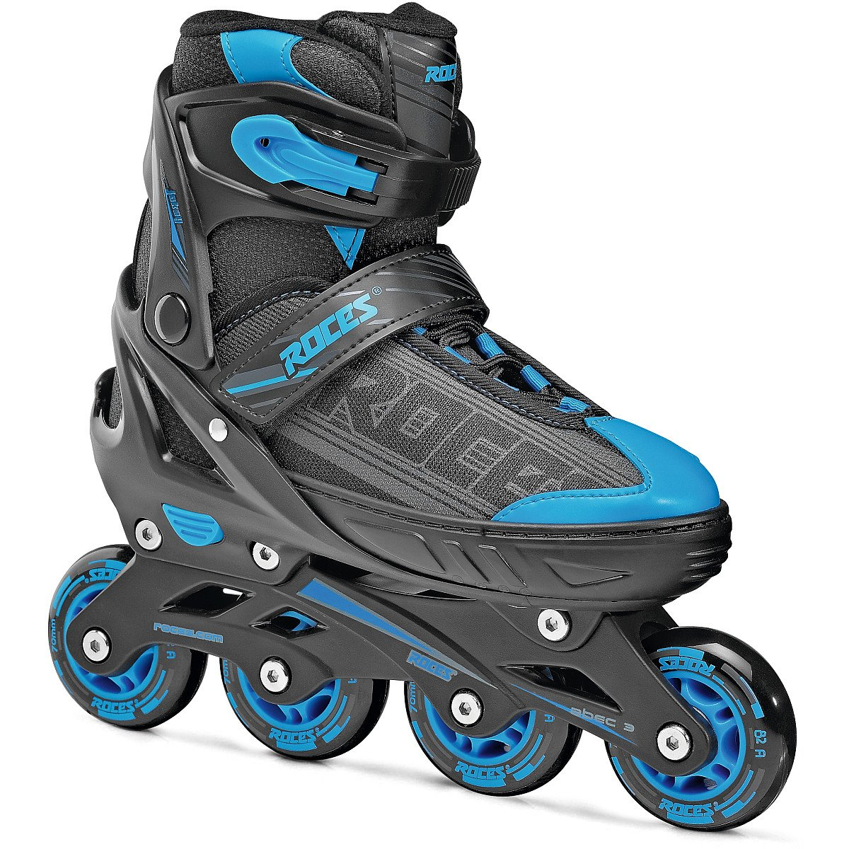 Roces 400810 Men's Model Jokey 1.0 Adjustable Inline Skate, US 2.5-4.5, Black/Astro Blue