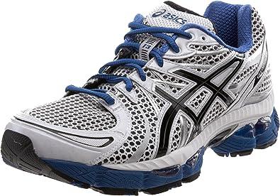 Zapatillas de hombre para correr ASICS Gel-Nimbus 13, Blanco (Blanco/Negro/Azul intenso), 50 EU: Amazon.es: Zapatos y complementos
