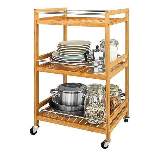 987097e108c0 Opinioni per SoBuy® Carrello per il bagno, mensole da bagno, in