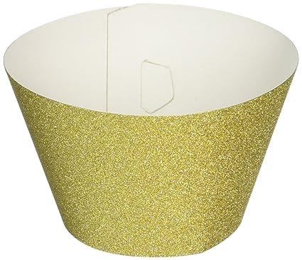 Wilton 415-5176 24 Count Glitterati Gold Cupcake Liners