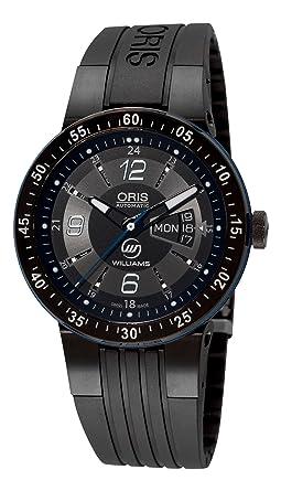 Oris 73576344765RS - Reloj de Pulsera Hombre, Caucho, Color Negro: Amazon.es: Relojes