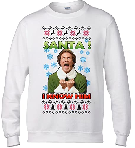 ugly christmas sweater buddy the elf sweatshirt holiday movie apparel - Buddy The Elf Christmas Sweater
