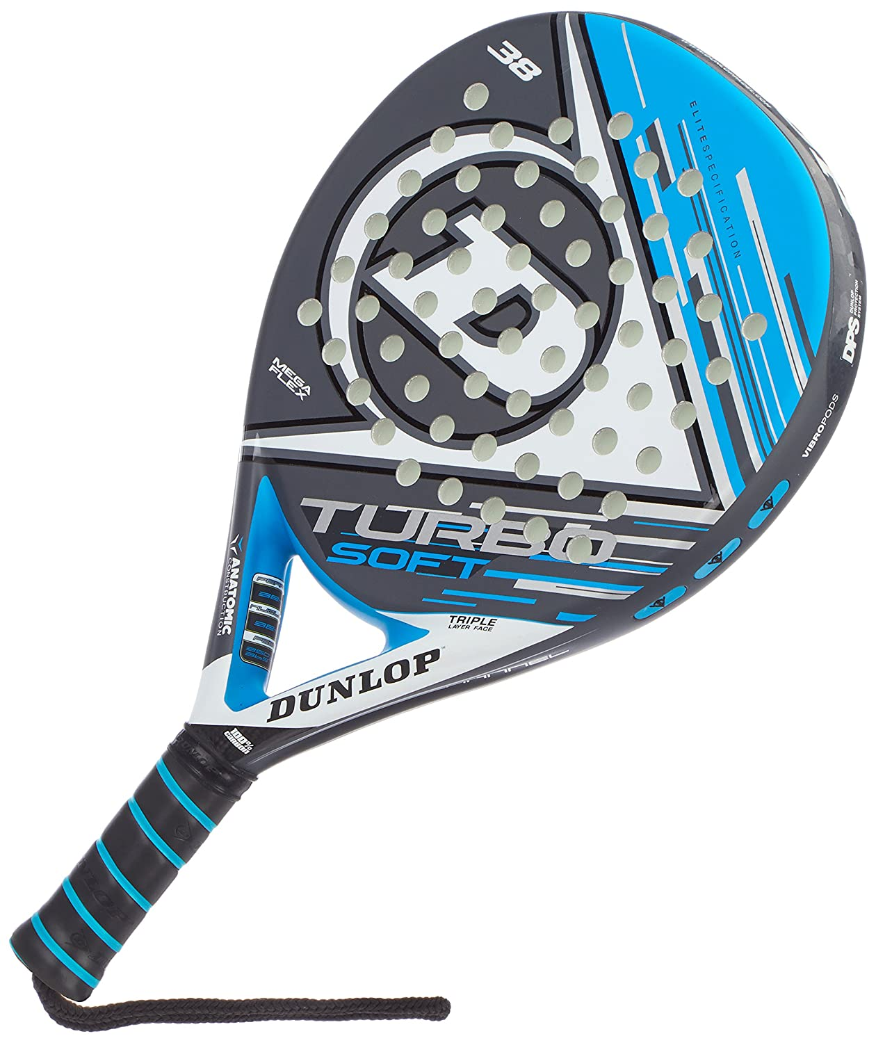 Dunlop TURBO SOFT - Pala de pádel 38mm, 2017, nivel avanzado ...