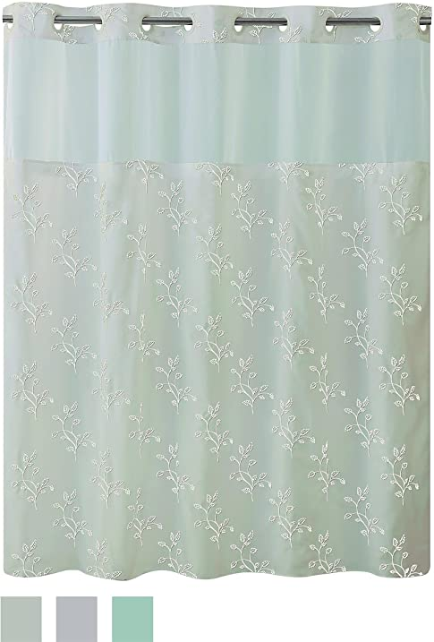 Amazon.com: Hookless RBH40MY027 Spring Leaves Shower Curtain with ...