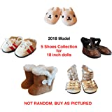 5 Pairs Shoes Collection American Girl Doll Accessories - 18 inch Doll Clothes Accessories Set Fits American Girl, Our Generation, Journey Girls by by WEARDOLL