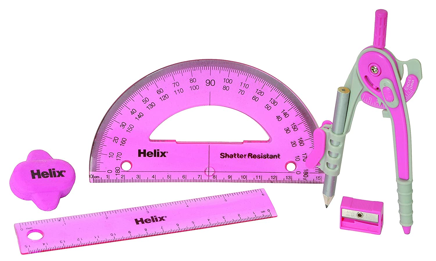 Assorted Colours Helix Cool Curves Maths Set
