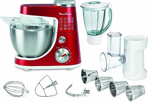 Moulinex QA404G15 Robot de cocina, 900 W, capacidad 1.5 L, acero ...
