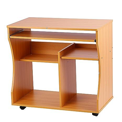 Mesa de ordenador escritorio, ZJchao Chic ahorro de espacio PC ...