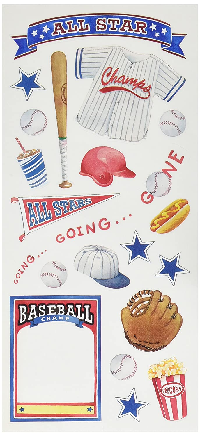 Sandylion Baseball Sticker 5.5 by 12-Inch Clear