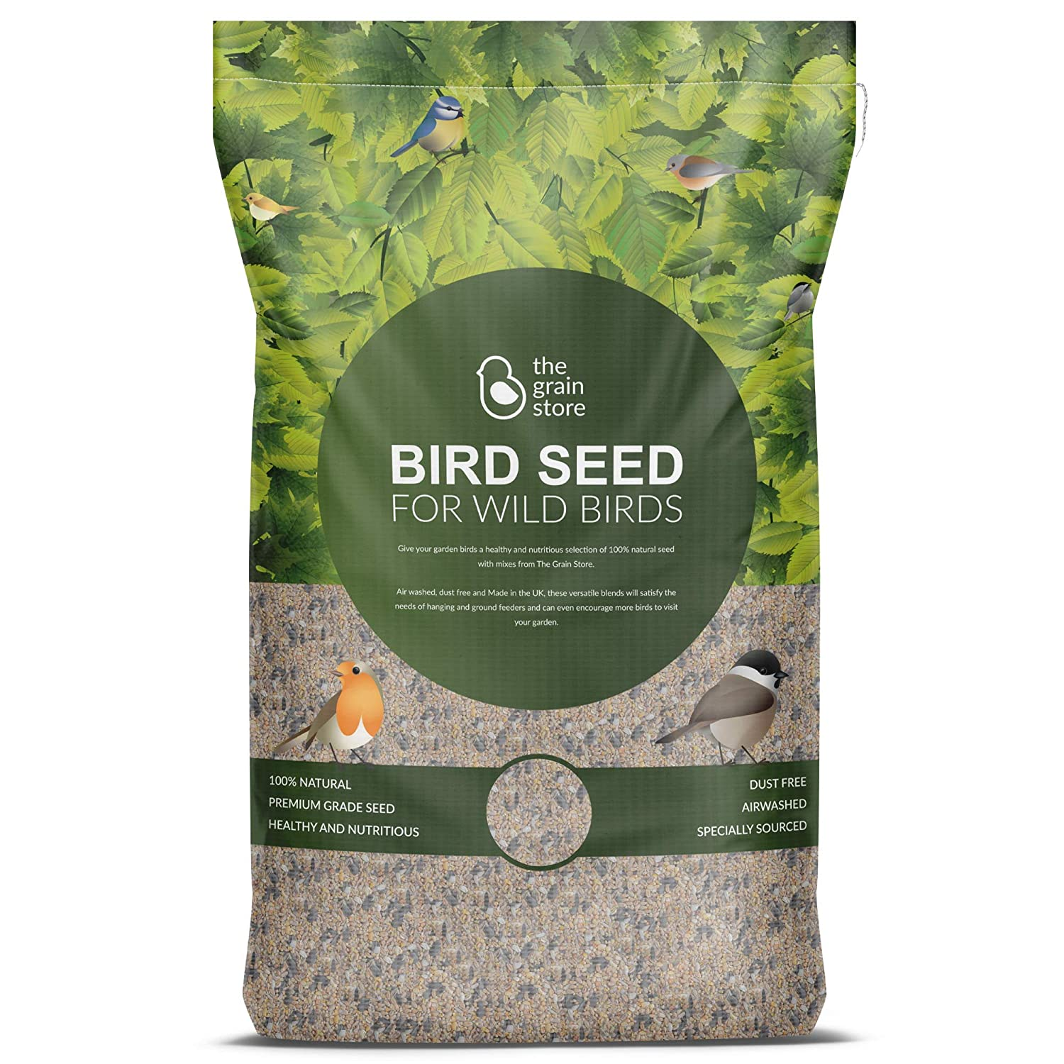The Grain Store Bird Food Robin & Finch Mix inc Sunflower Heart & Mealworm 20KG