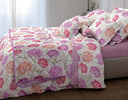 Laura Ashley Maco Satin Bed Sheets Hampton, 100% Cotton, Colourful, 135 X