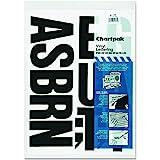Chartpak Self-Adhesive Vinyl Capital Letters, 4 Inches High, Black, 58 per Pack (01175)
