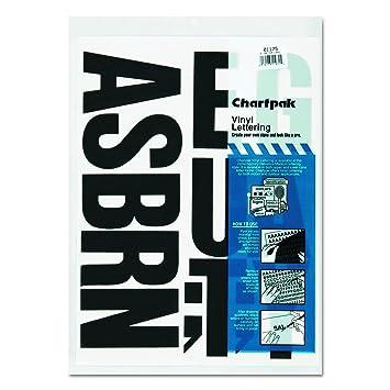 Amazoncom Chartpak SelfAdhesive Vinyl Capital Letters - Self adhesive vinyl letters