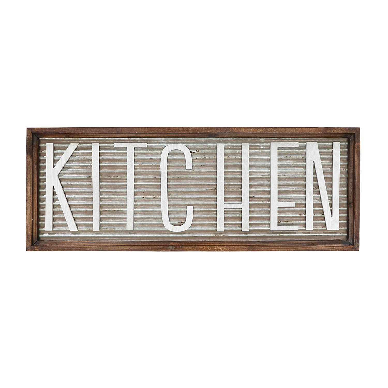 """Barnyard Designs Kitchen Wall Decor Sign, Rustic Vintage Farmhouse Country Decoration for Kitchen Wall, Counter, Door and Pantry 36"""" x 13"""""""