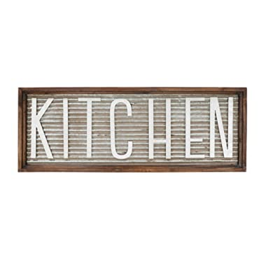 Barnyard Designs Kitchen Wall Decor Sign, Rustic Vintage Farmhouse Country Decoration for Kitchen Wall, Counter, Door and Pantry 36  x 13""