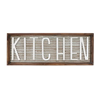 Amazon.com: Barnyard Designs Kitchen Wall Decor Sign, Rustic Vintage ...
