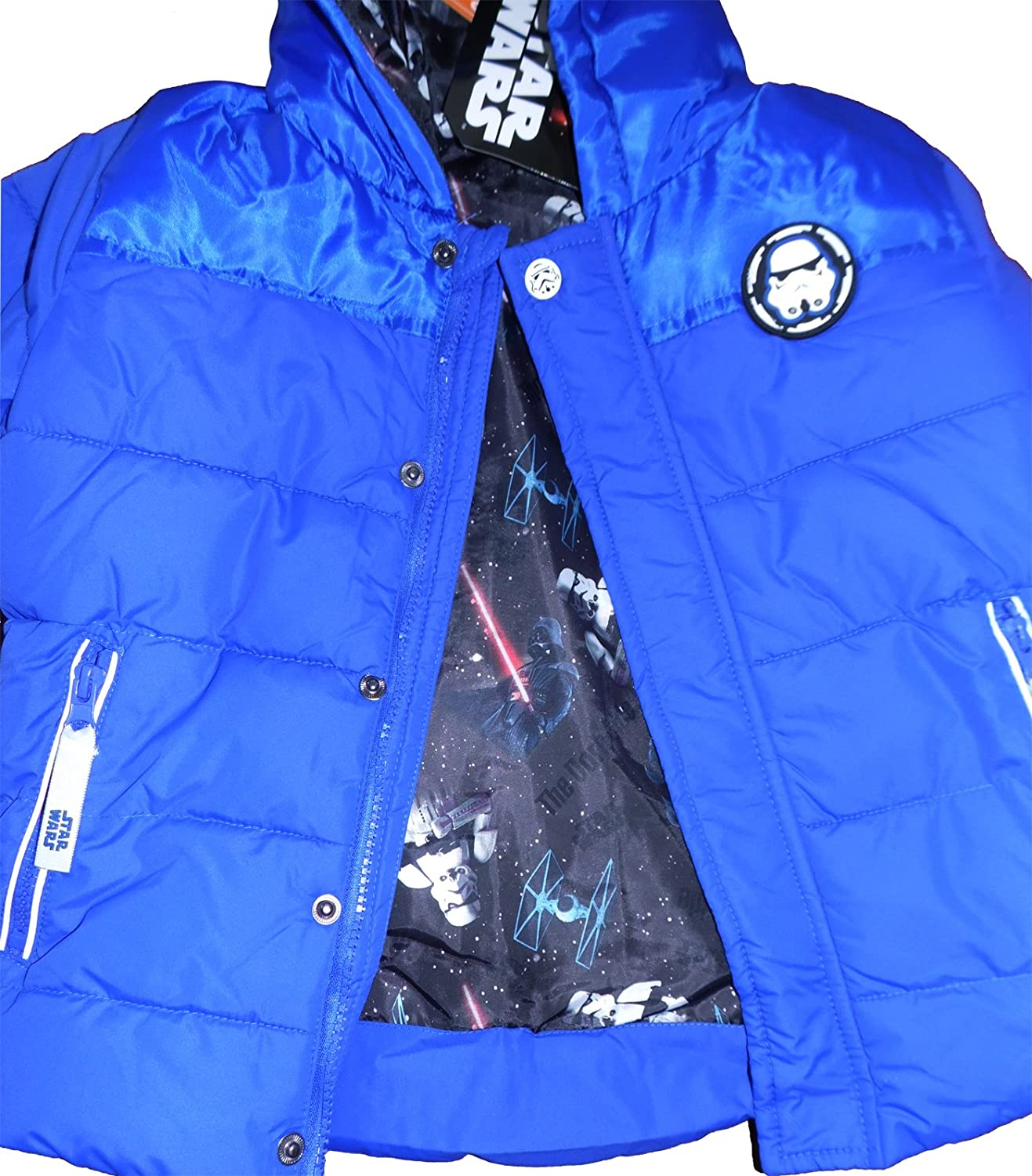 Star Wars Kids Padded Jacket Coat with Matching Mittens