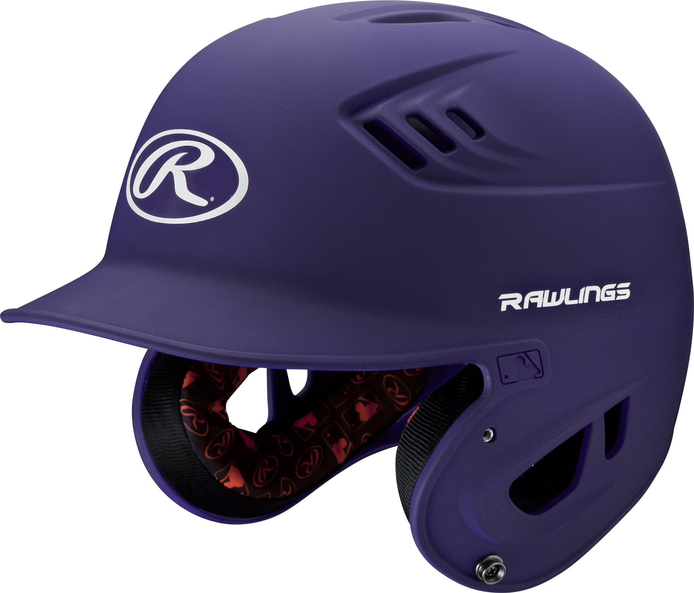 Rawlings R16 Series Matte Batting Helmet, Purple, Senior by RAWLINGS